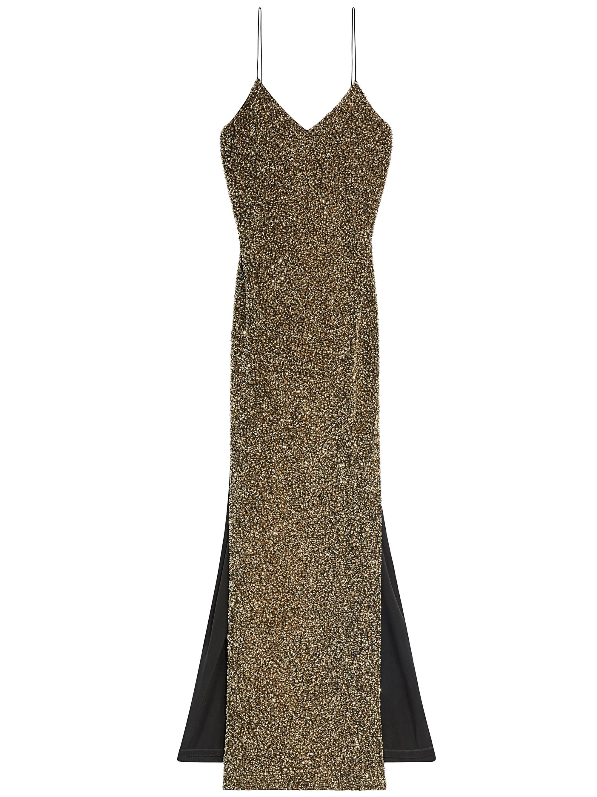 Lyst alice olivia stila embellished side slit gown in metallic gallery ombrellifo Images