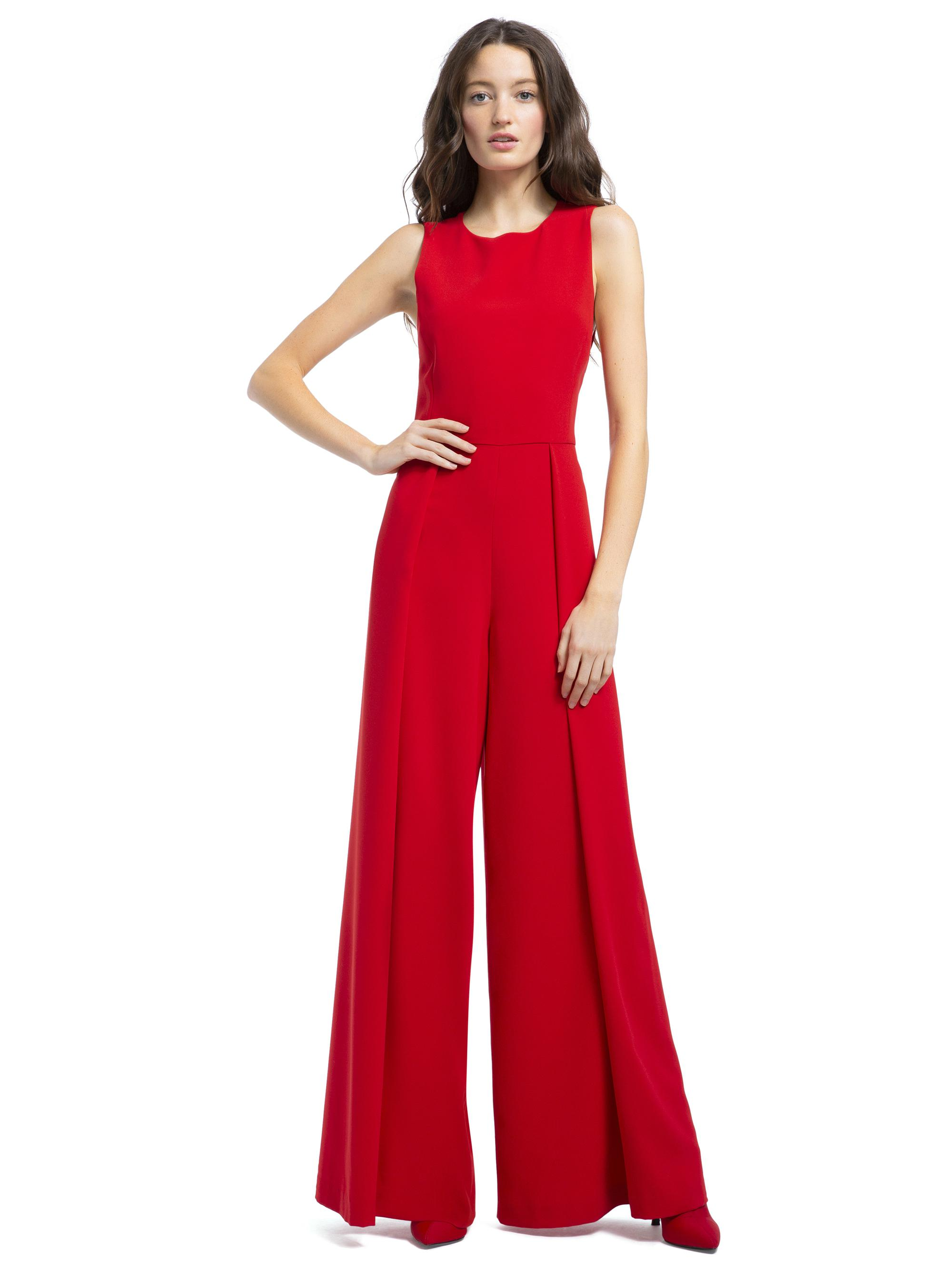 1ea45a3b0367 Lyst - Alice + Olivia Bret Wide-leg Jumpsuit in Red