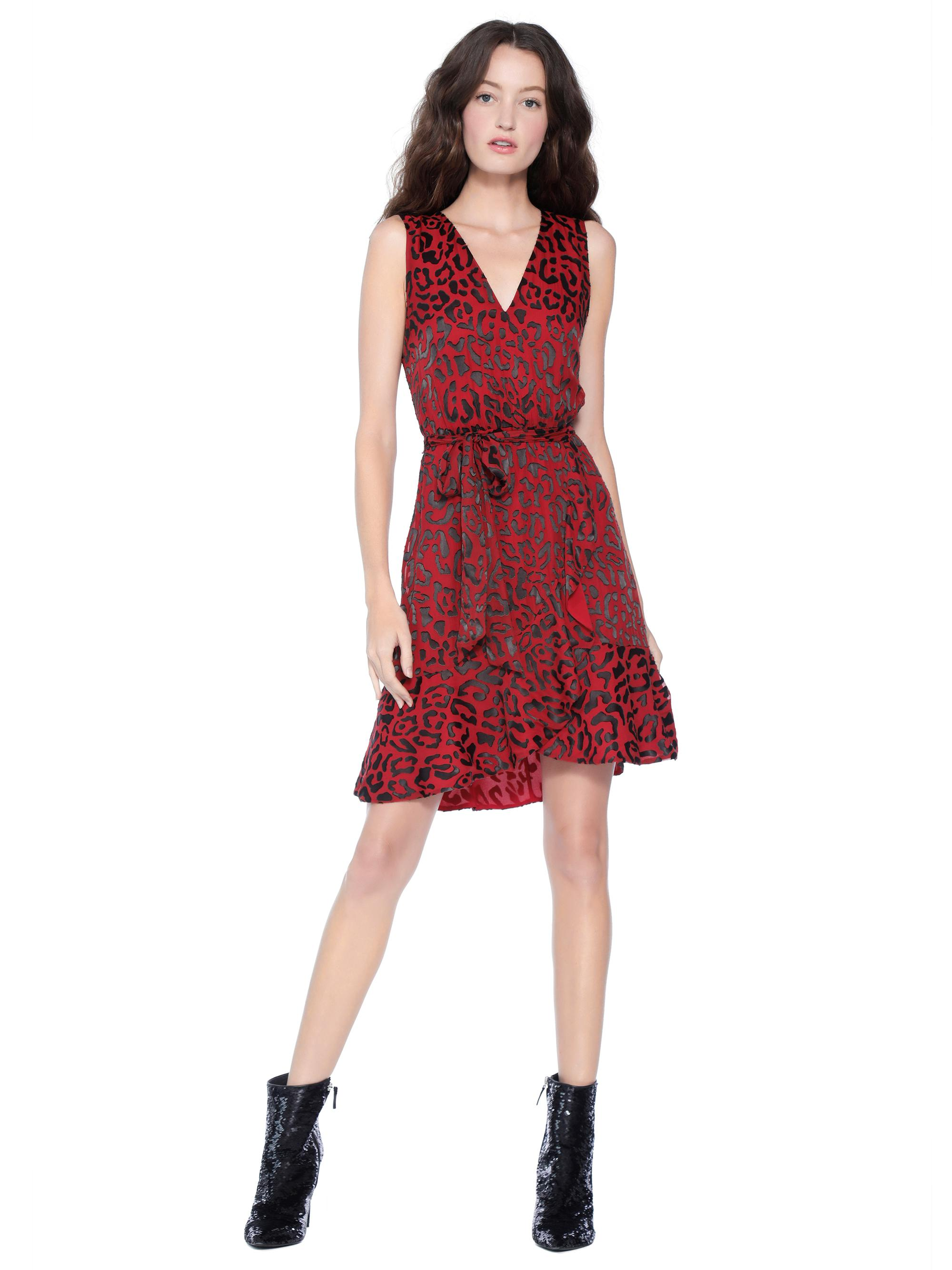 b1ec45c5f299 Alice + Olivia Brooks Animal Print Fit & Flare Dress in Red - Lyst
