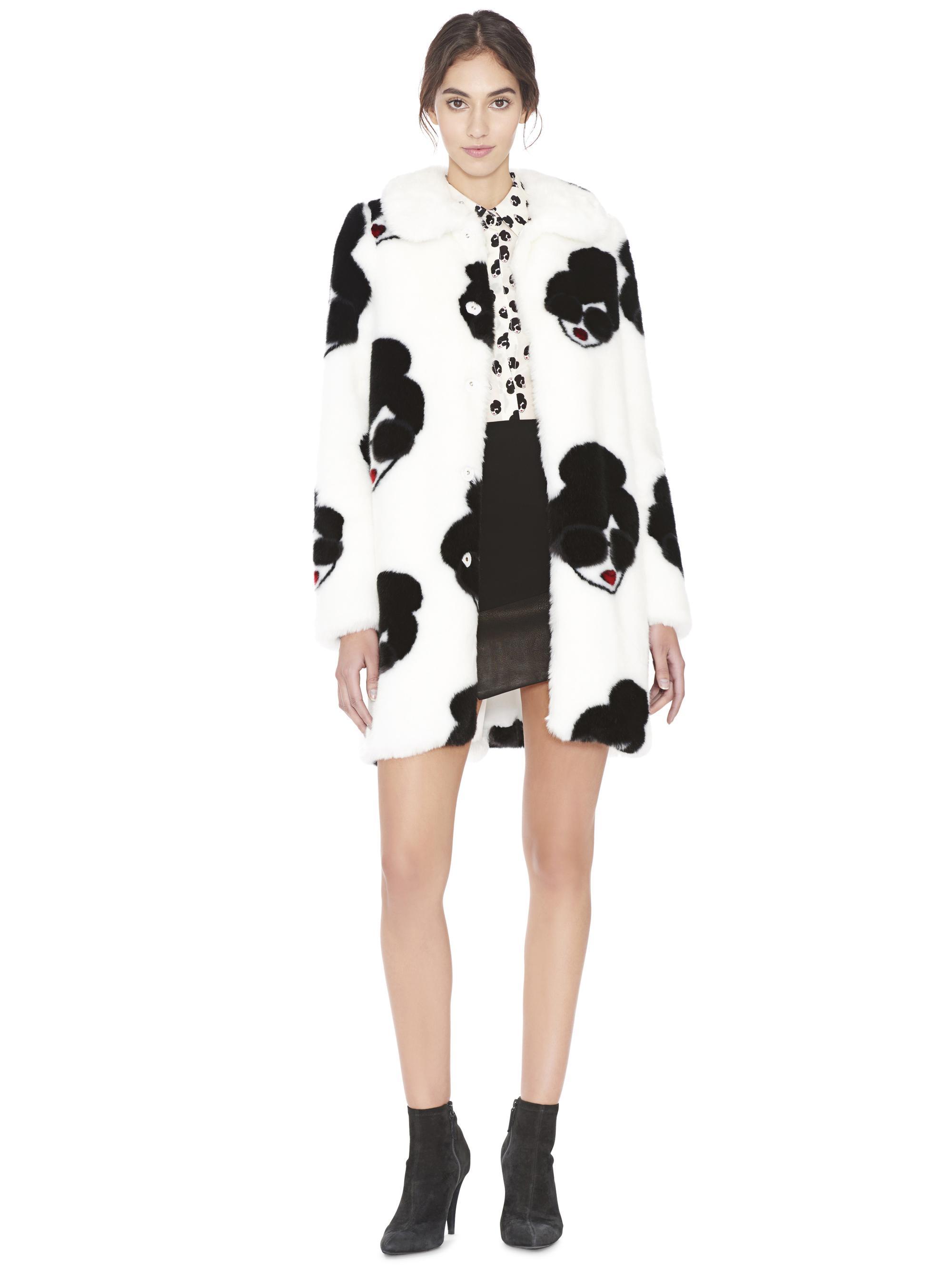 3a5bf9de72ea Alice + Olivia Kinsley Faux Fur Oversized Coat in Black - Lyst
