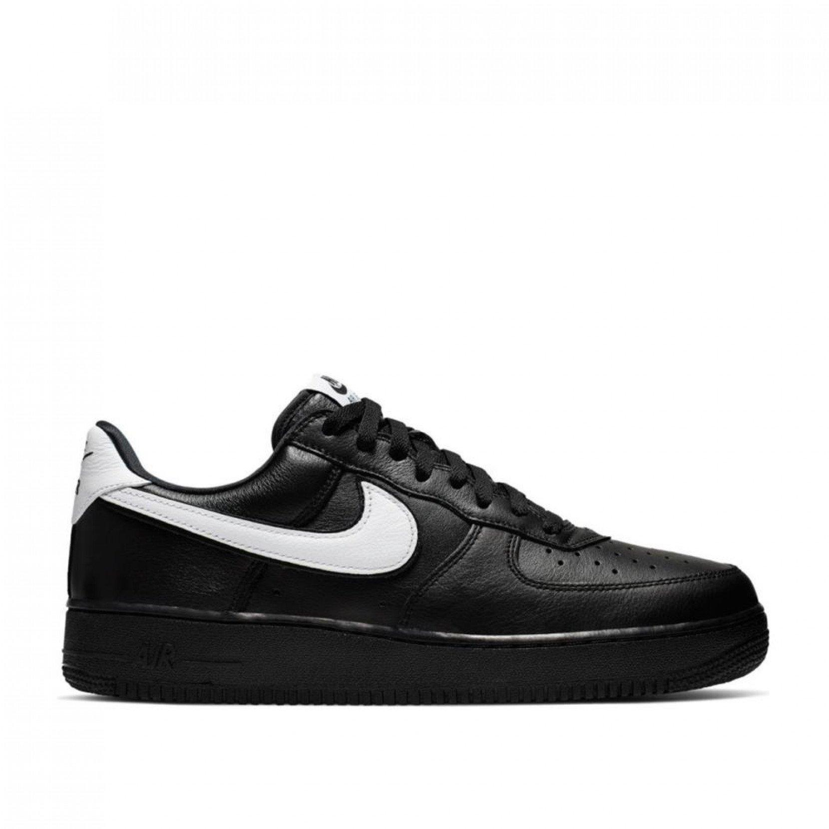 Nike Leather Air Force 1 Low Retro in Black/White (Black) for Men ...