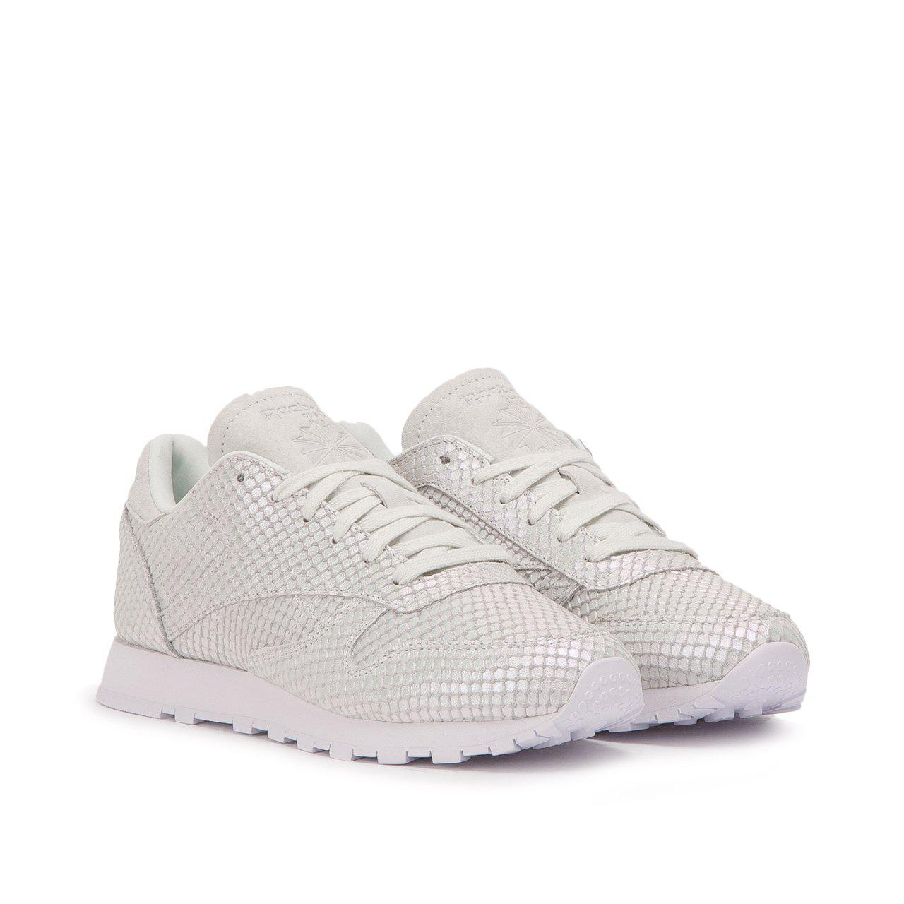 Reebok - Gray Classic Leather Textural W for Men - Lyst. View fullscreen 49cc3de99