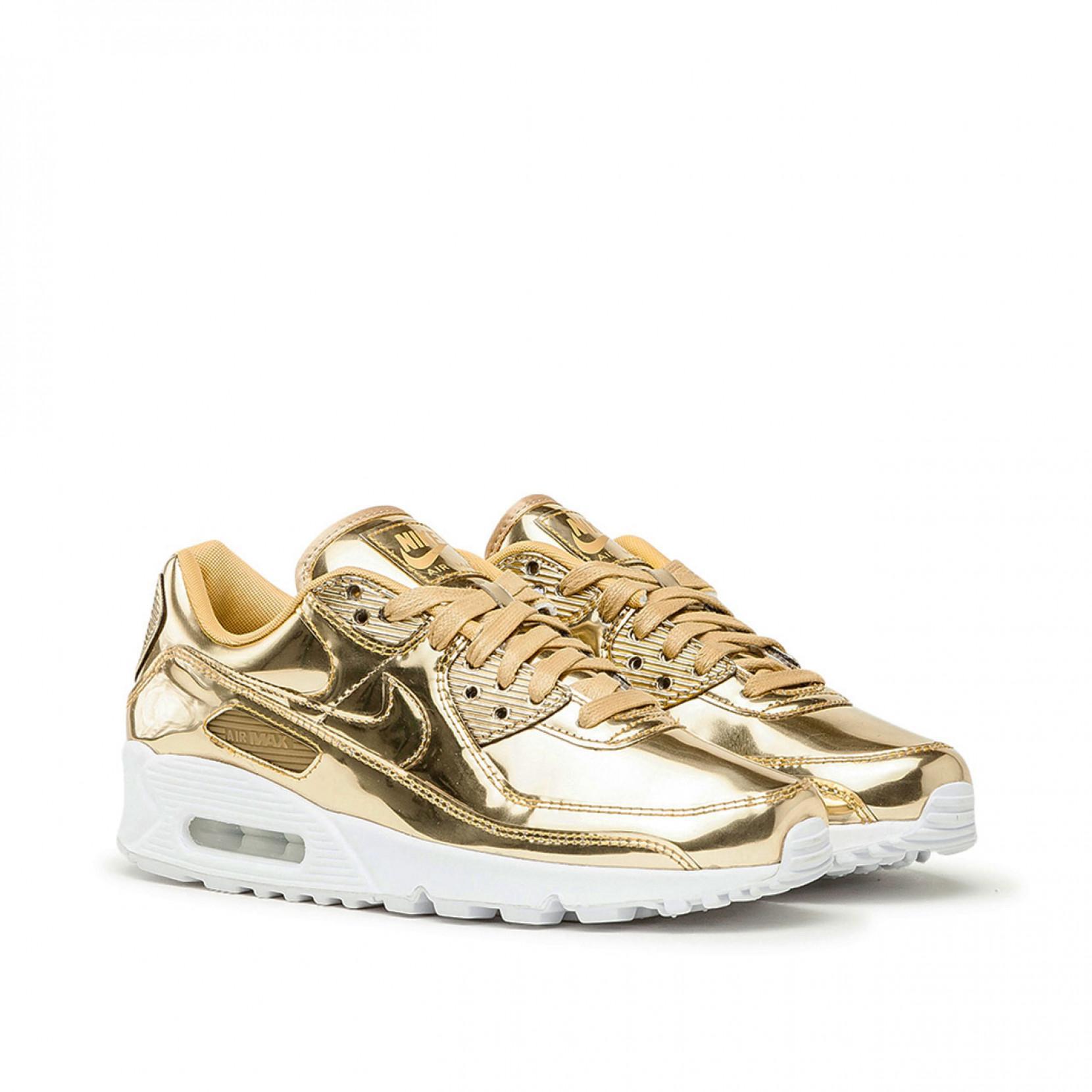Nike Leather W Air Max 90 Sp in Metallic Gold (Metallic) - Save 61 ...