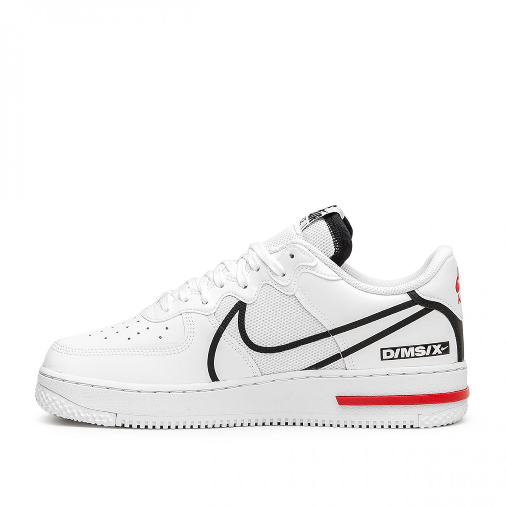 Nike Air Force 1 React Shoe in White/Black (White) for Men - Lyst