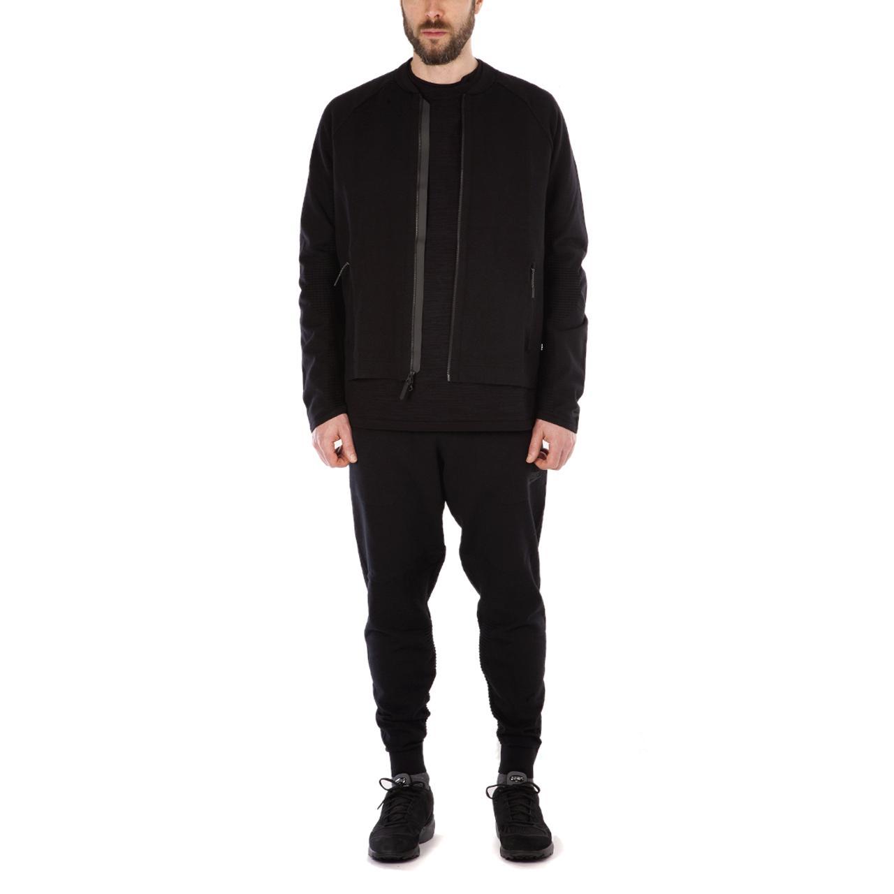 Nike Cotton Tech Knit Jacket in Black for Men