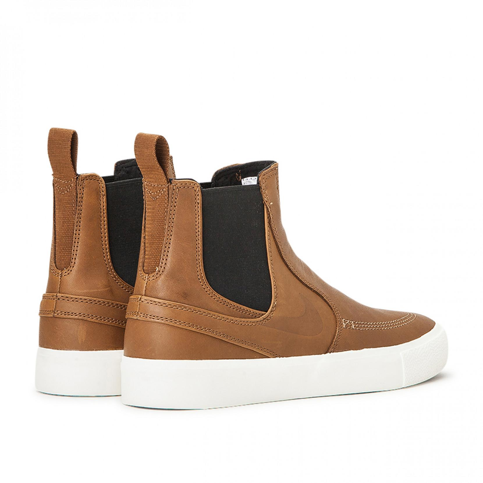 Nike Leather Zoom Stefan Janoski Slip Mid Rm In Brown For Men Lyst