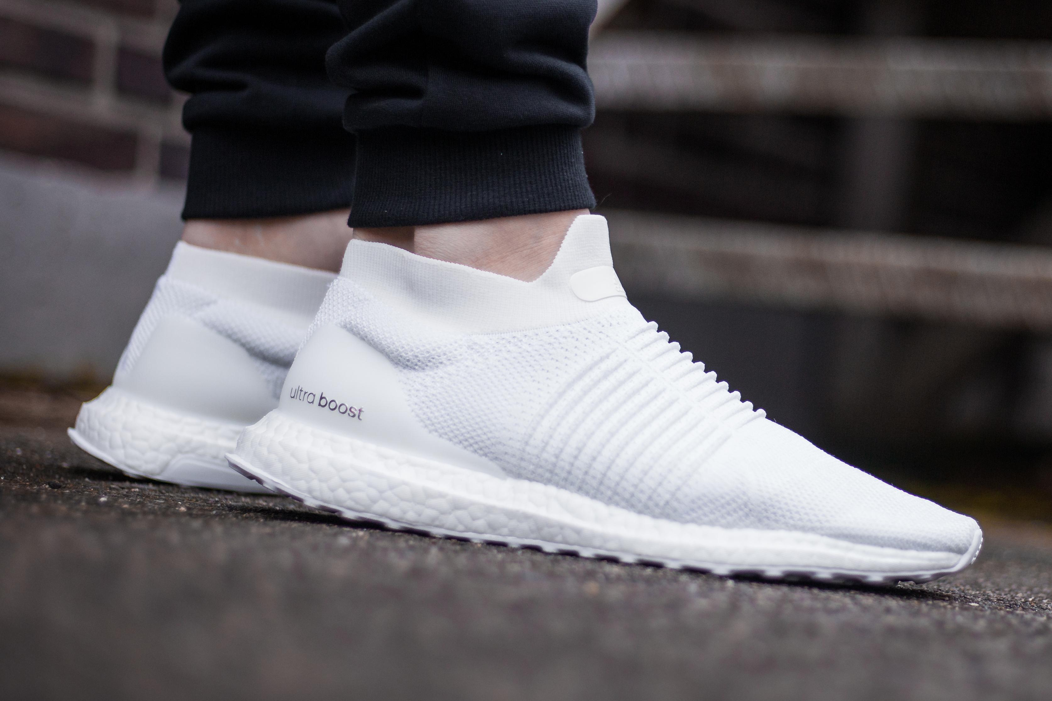 laceless ultra boost white adidas Shoes