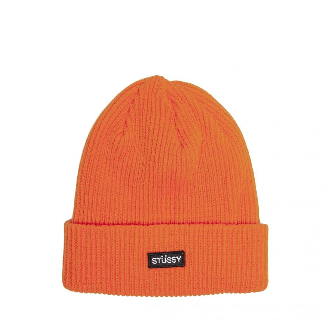 fe6a3edaccf Stussy - Orange Small Patch Watchcap Beanie for Men - Lyst. View fullscreen