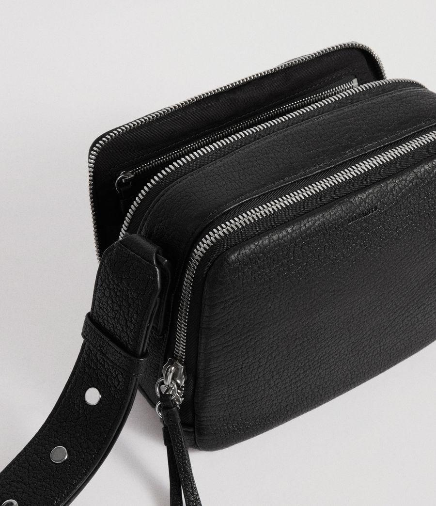 e770e1ddb3bd6 AllSaints Vincent Leather Crossbody Bag in Black - Lyst