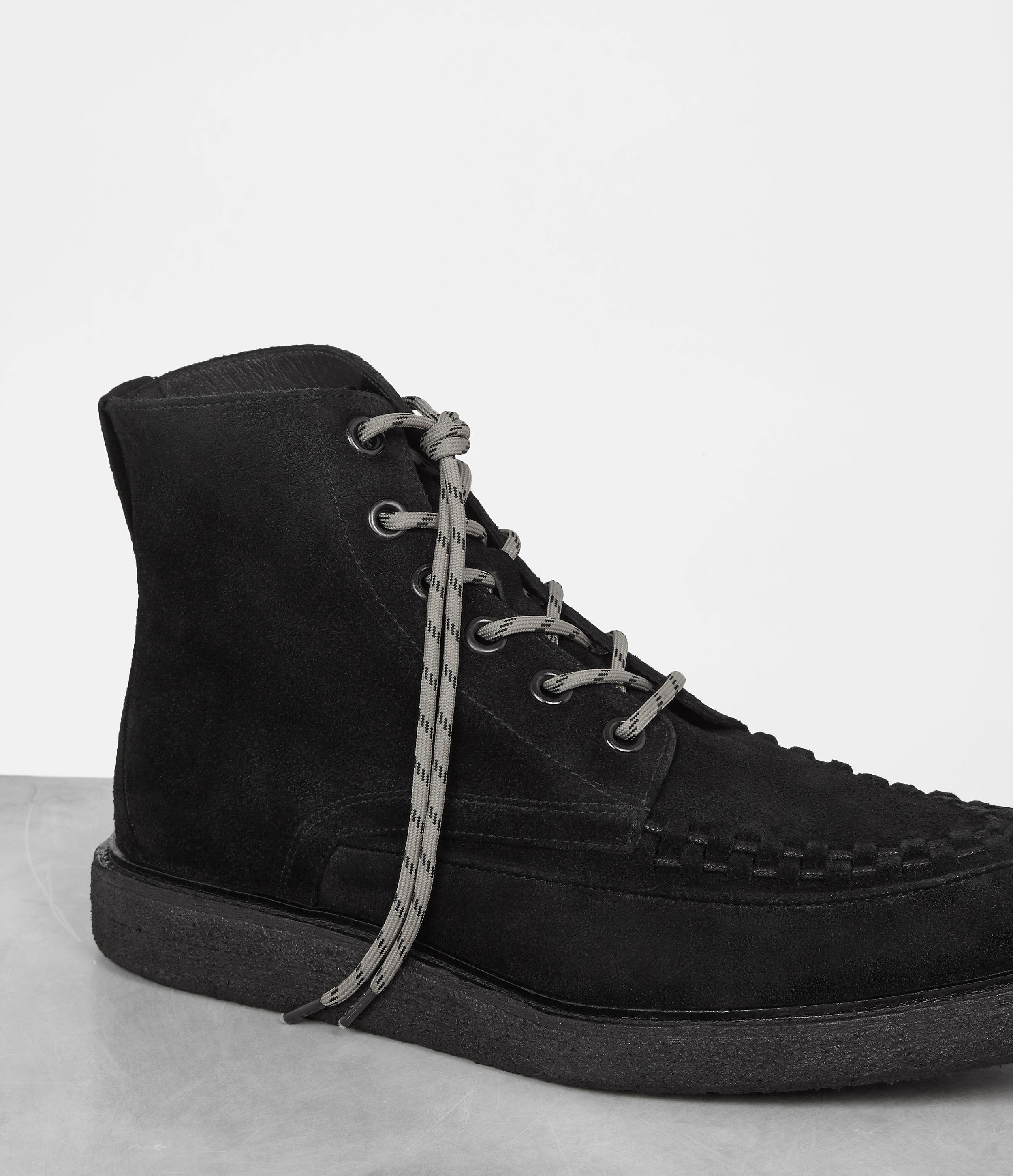 AllSaints Suede Moth Boot in Black for