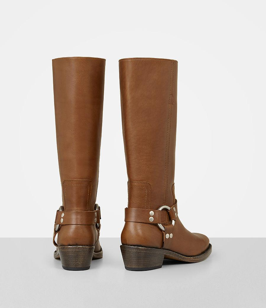 AllSaints Leather Faye Boot in Tan (Brown)
