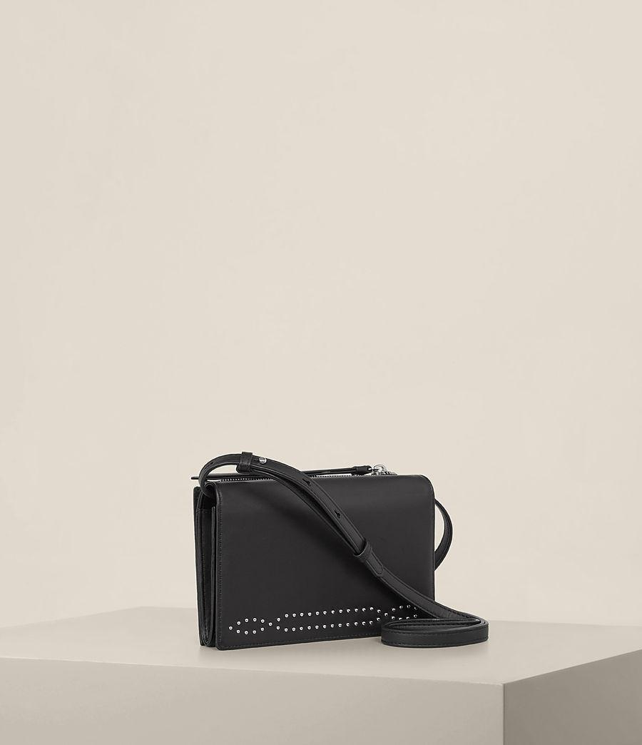 AllSaints Leather Billie Wallet Crossbody in Black