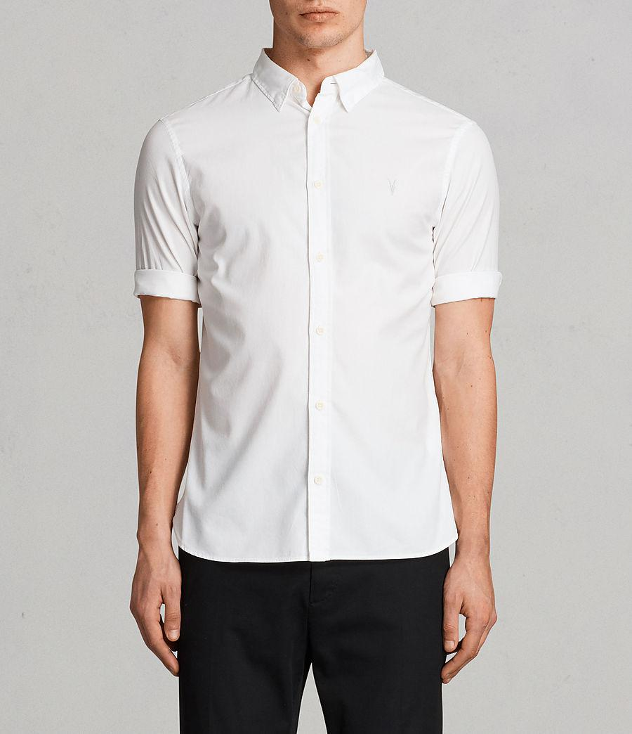 f3577aceb2a4 AllSaints Redondo Half Sleeved Shirt in White for Men - Lyst