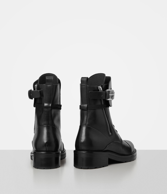 AllSaints Leather Daria Boot in Black