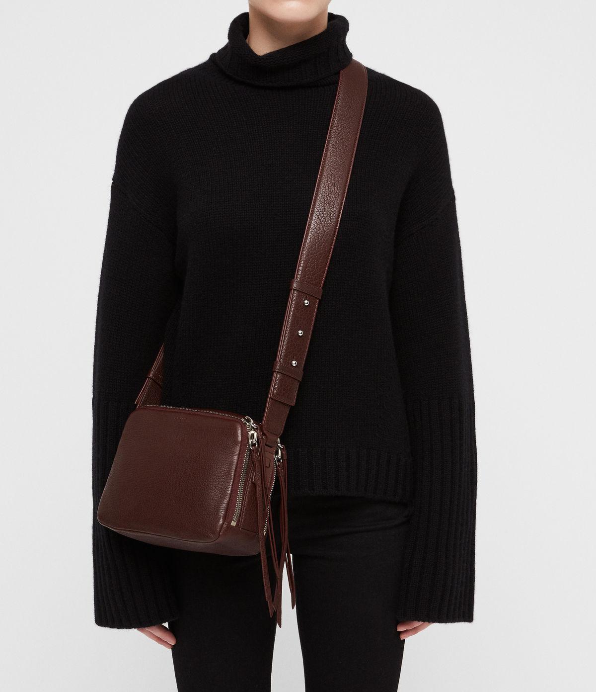 818058f2f4bb5 AllSaints Vincent Leather Crossbody Bag - Lyst