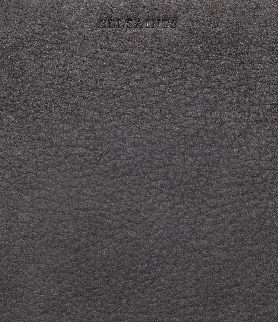 AllSaints Leather Mori Crossbody in Navy Black (Black)