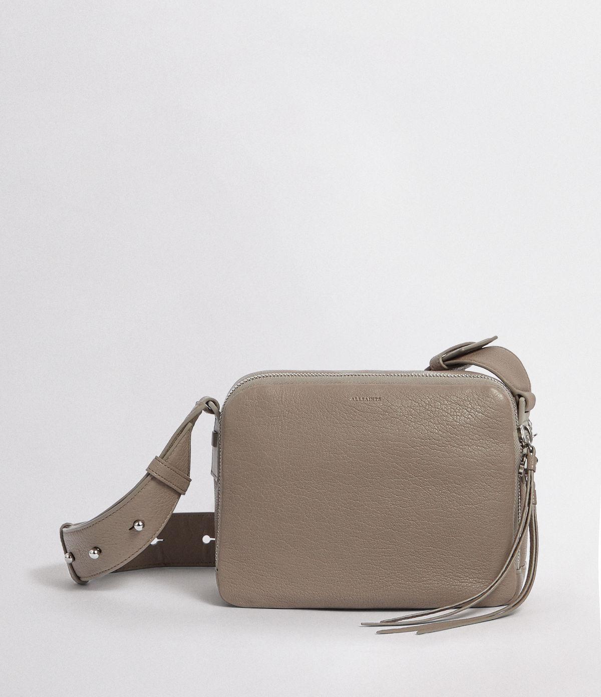 d7d340f02b123 AllSaints Vincent Leather Crossbody Bag in Gray - Lyst
