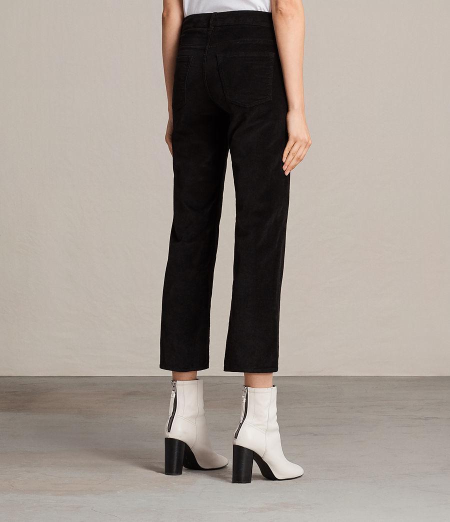 AllSaints Heidi Cropped Velvet Jeans in Black