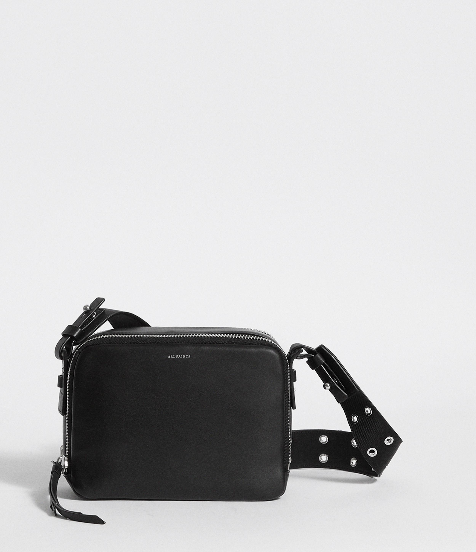 1d813b845c3f AllSaints Sid Leather Fanny Pack Crossbody Bag in Black - Lyst