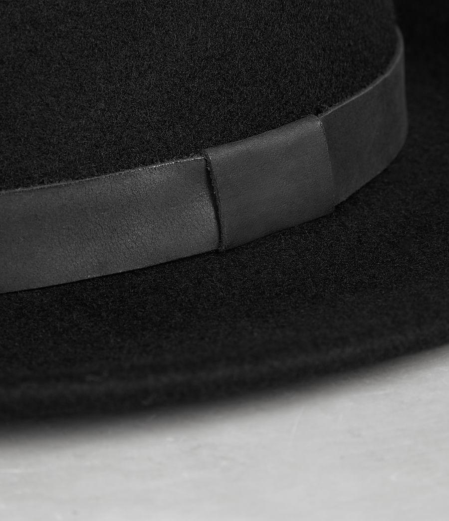 dc851289d679e AllSaints Bronson Leather Fedora Hat in Black for Men - Lyst