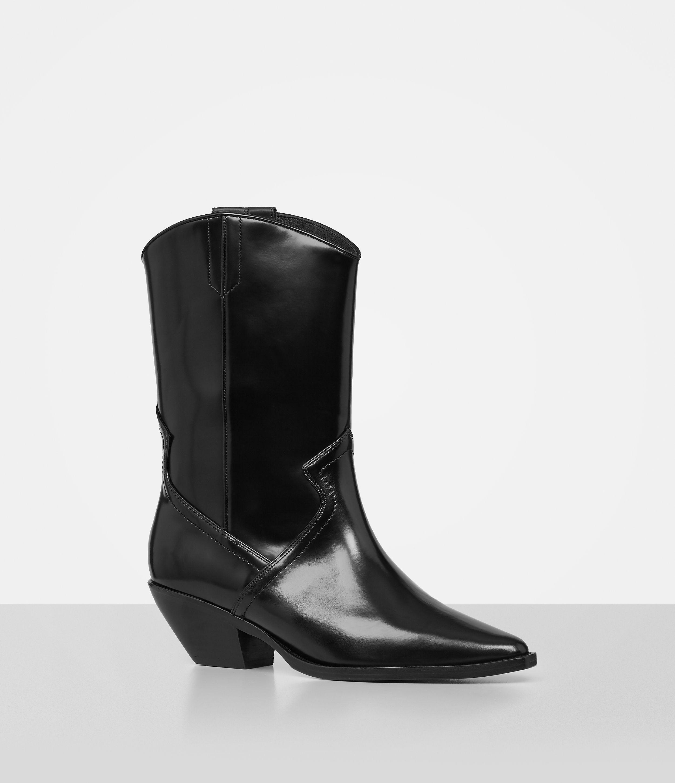 44f552a03ab AllSaints Black Evi Boot
