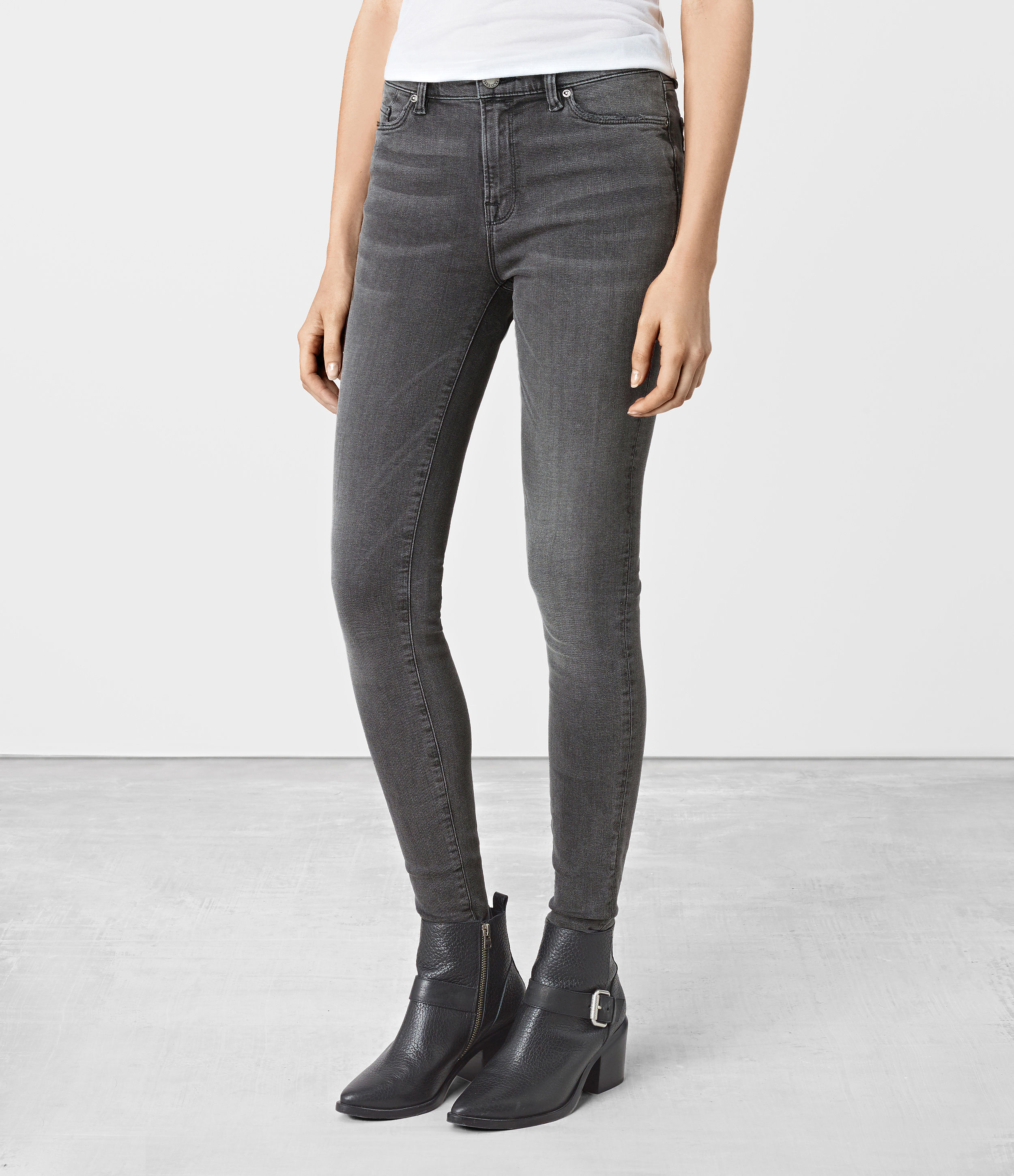 AllSaints Denim Grace Jeans in Dark Grey (Grey)