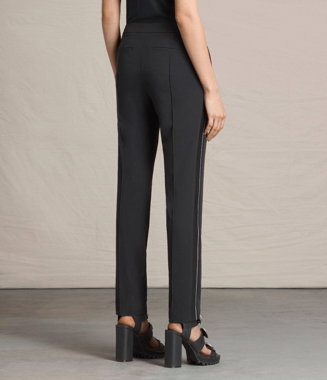 Allsaints Ivy Rib Trousers In Black Lyst