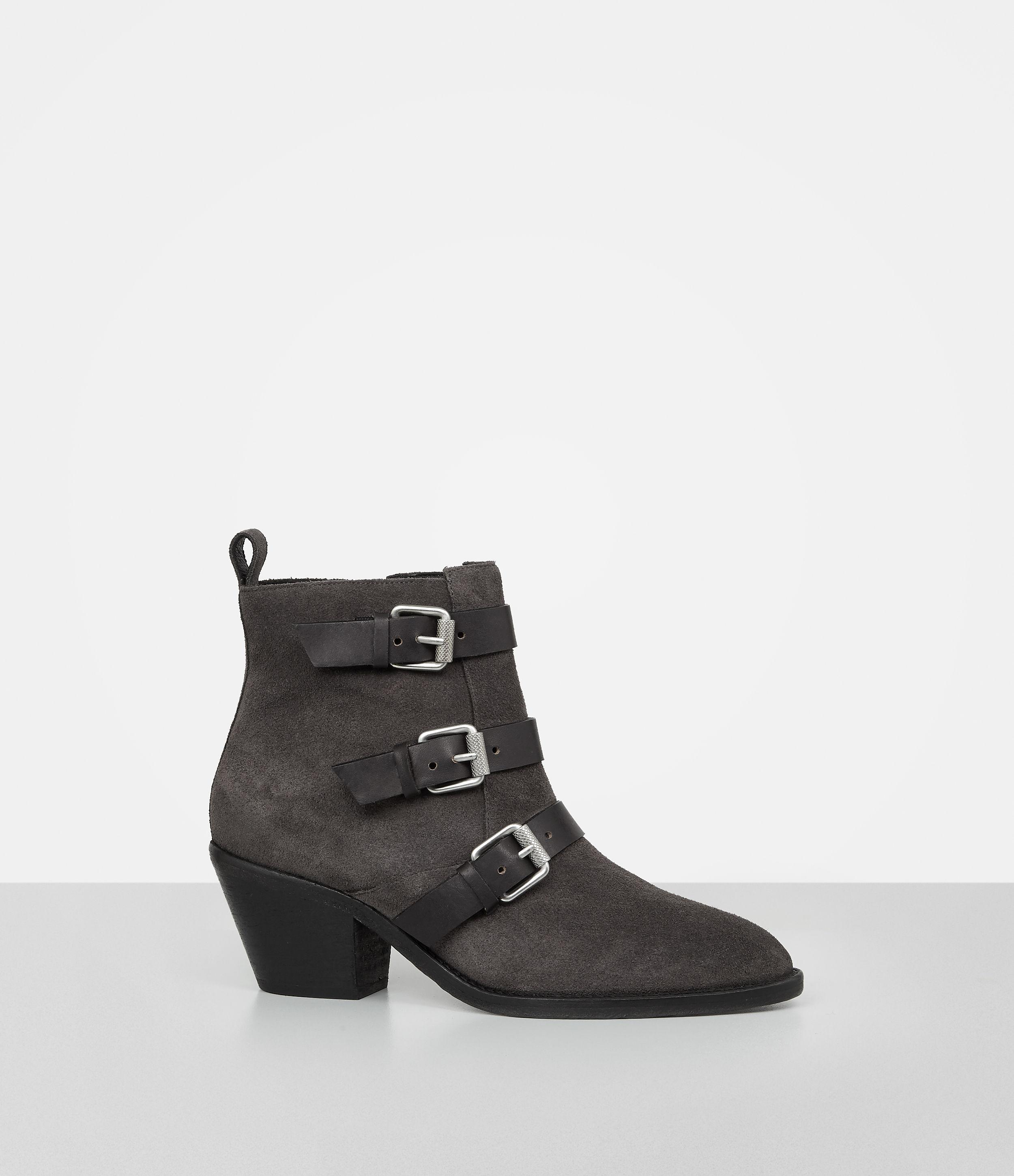 Lyst Allsaints Lulu Suede Boot Usa Usa In Gray