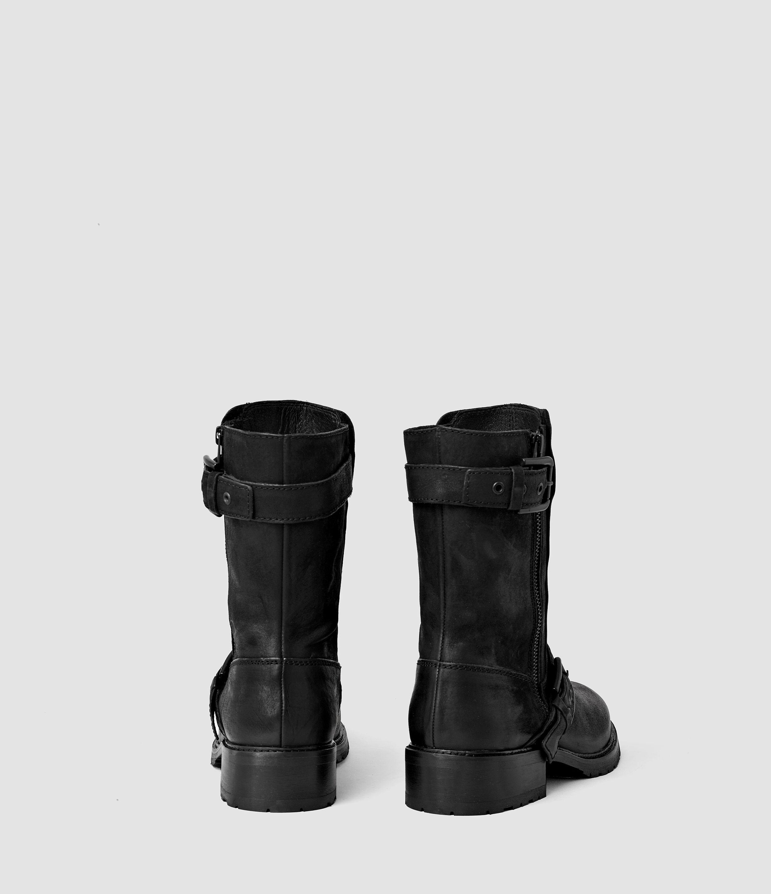 AllSaints Leather New Kawai Engineer Boot in Black