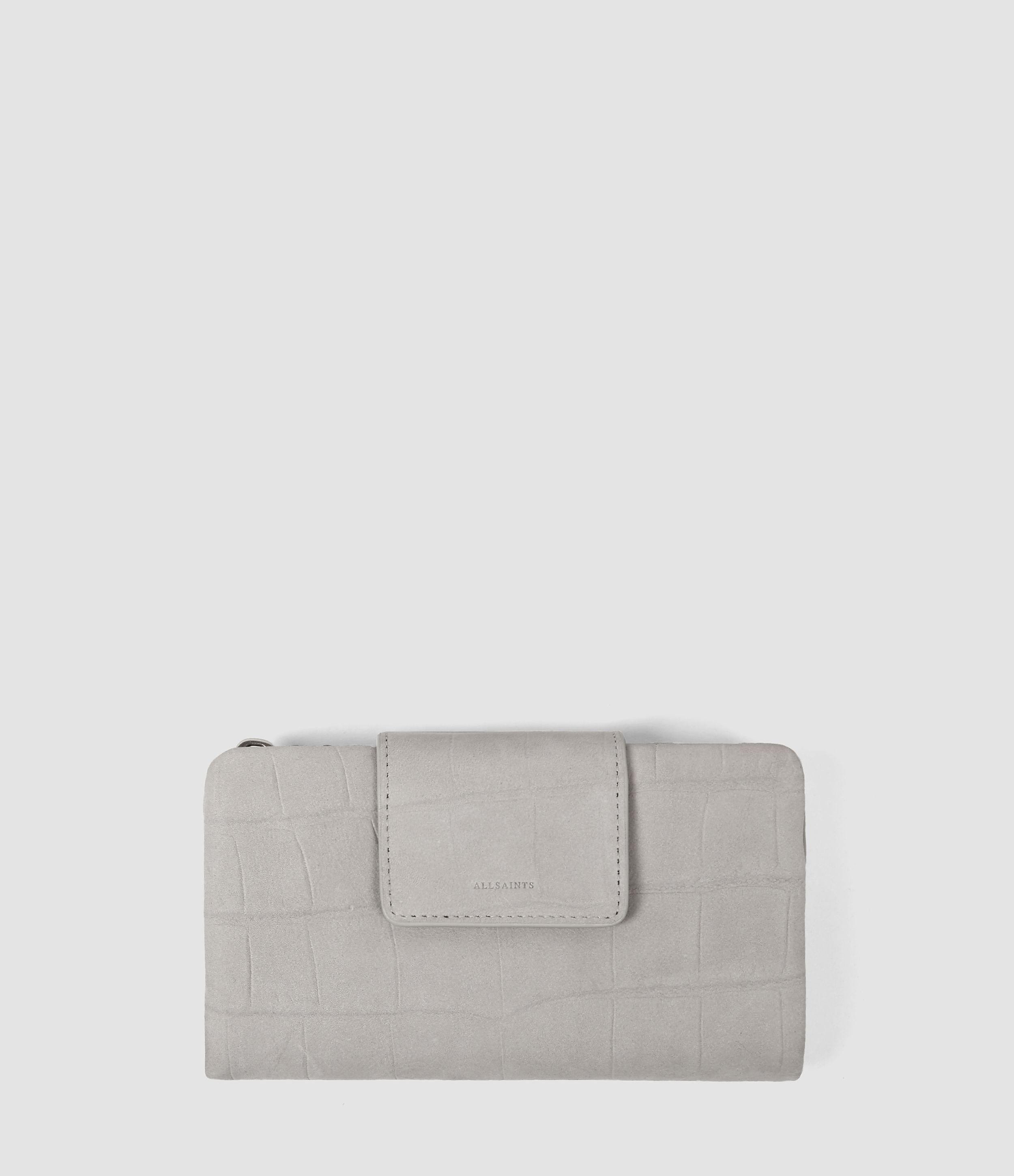 Allsaints Paradise Japanese Wallet in Gray