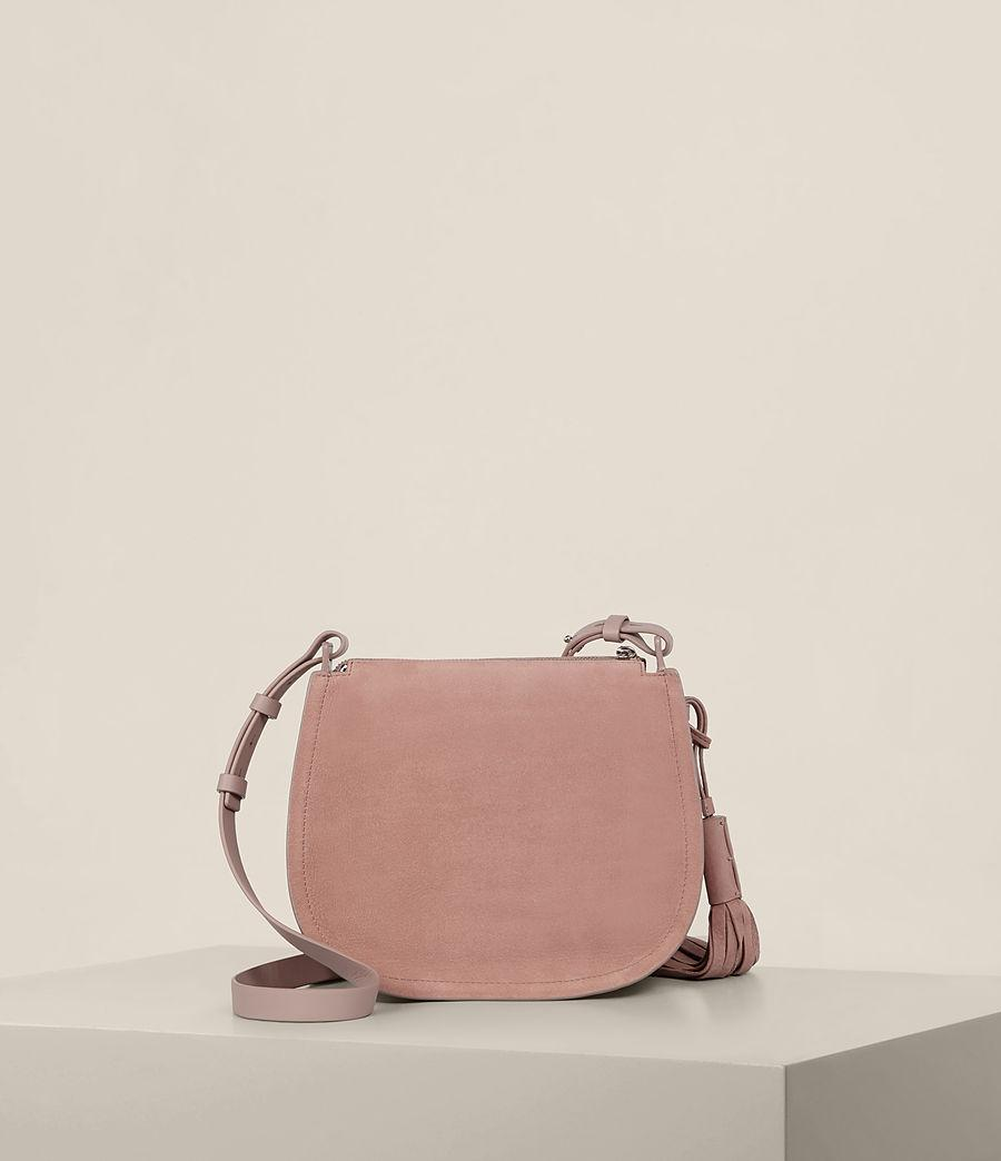 AllSaints Leather Mori Crossbody in Blush Pink (Pink)