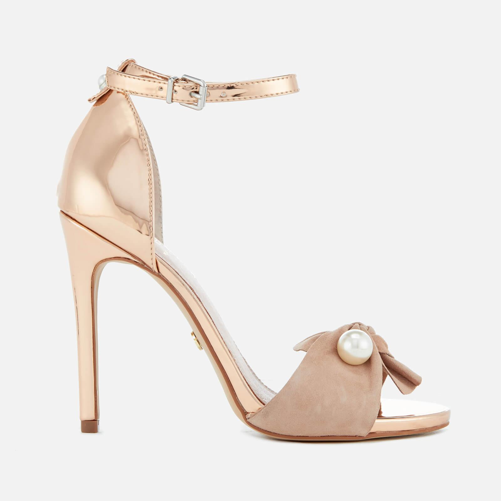 57ed9ac5b75f Kg By Kurt Geiger Women s Hermione Suede Barely There Heeled Sandals ...
