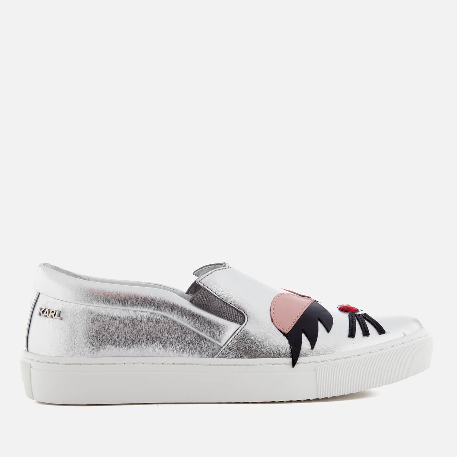 Kupsole Choupette Lash slip on sneakers - Metallic Karl Lagerfeld jJoTj4v