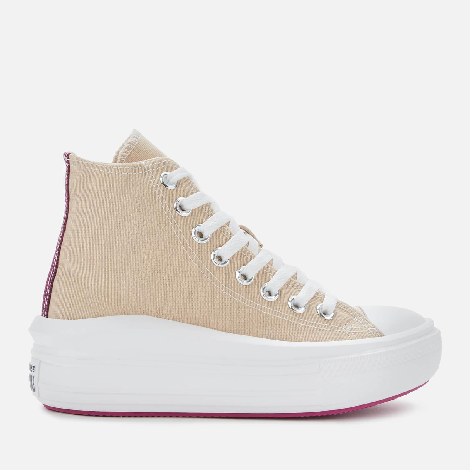 Converse Canvas Chuck Taylor All Star Move Hi-top Trainers in ...