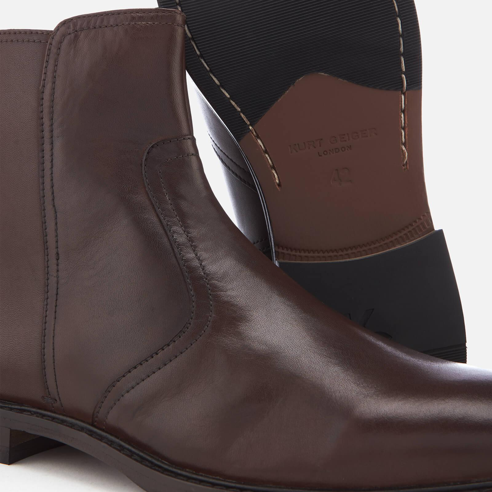 later reputable site entire collection Kurt Geiger Bournemouth Leather Ankle Boots in Brown for Men - Lyst