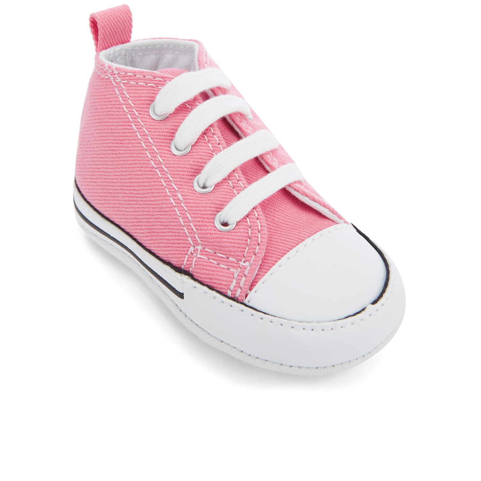 c29b494fe5d96b Converse - Pink Babies Chuck Taylor First Star Hi-top Trainers - Lyst. View  fullscreen