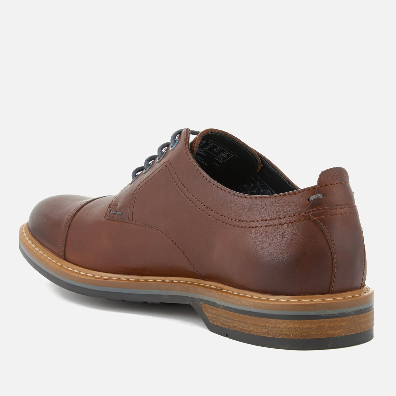 Clarks Pitney Cap Leather Toe Cap Derby Shoes In Brown For
