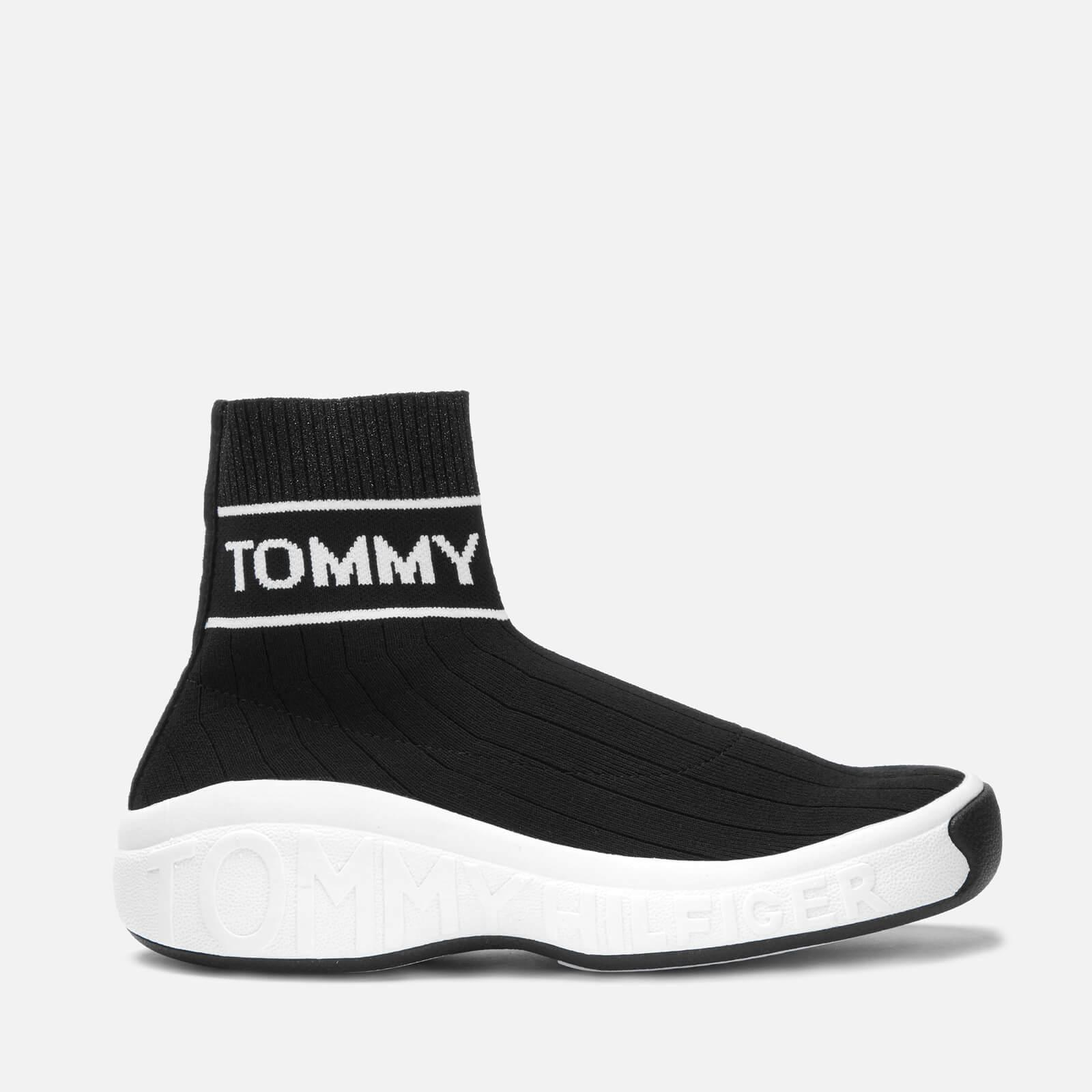 Tommy Hilfiger Suede Knit Sock Boot