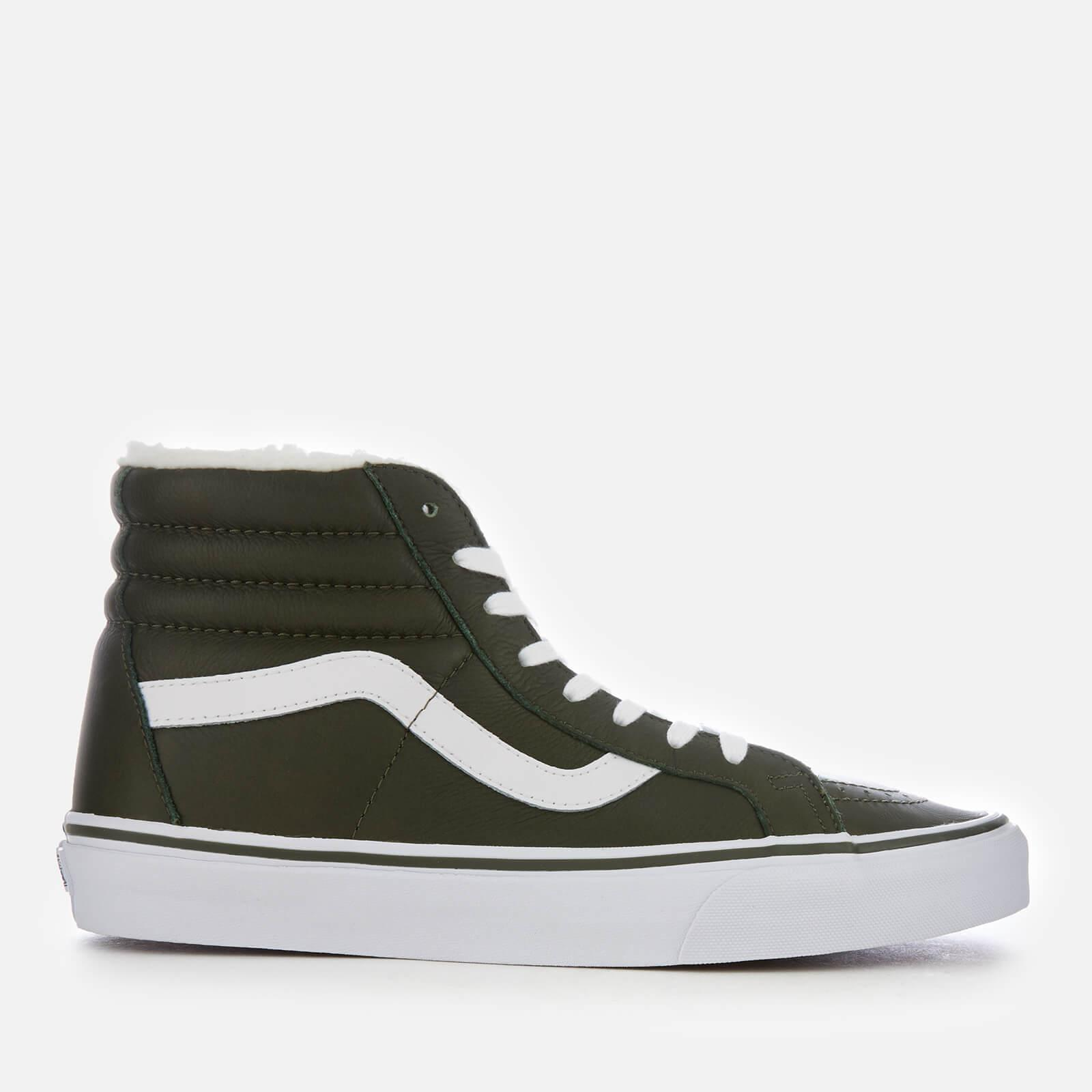b1846080d4 Vans Sk8-hi Reissue Leather fleece Trainers in Green for Men - Save ...