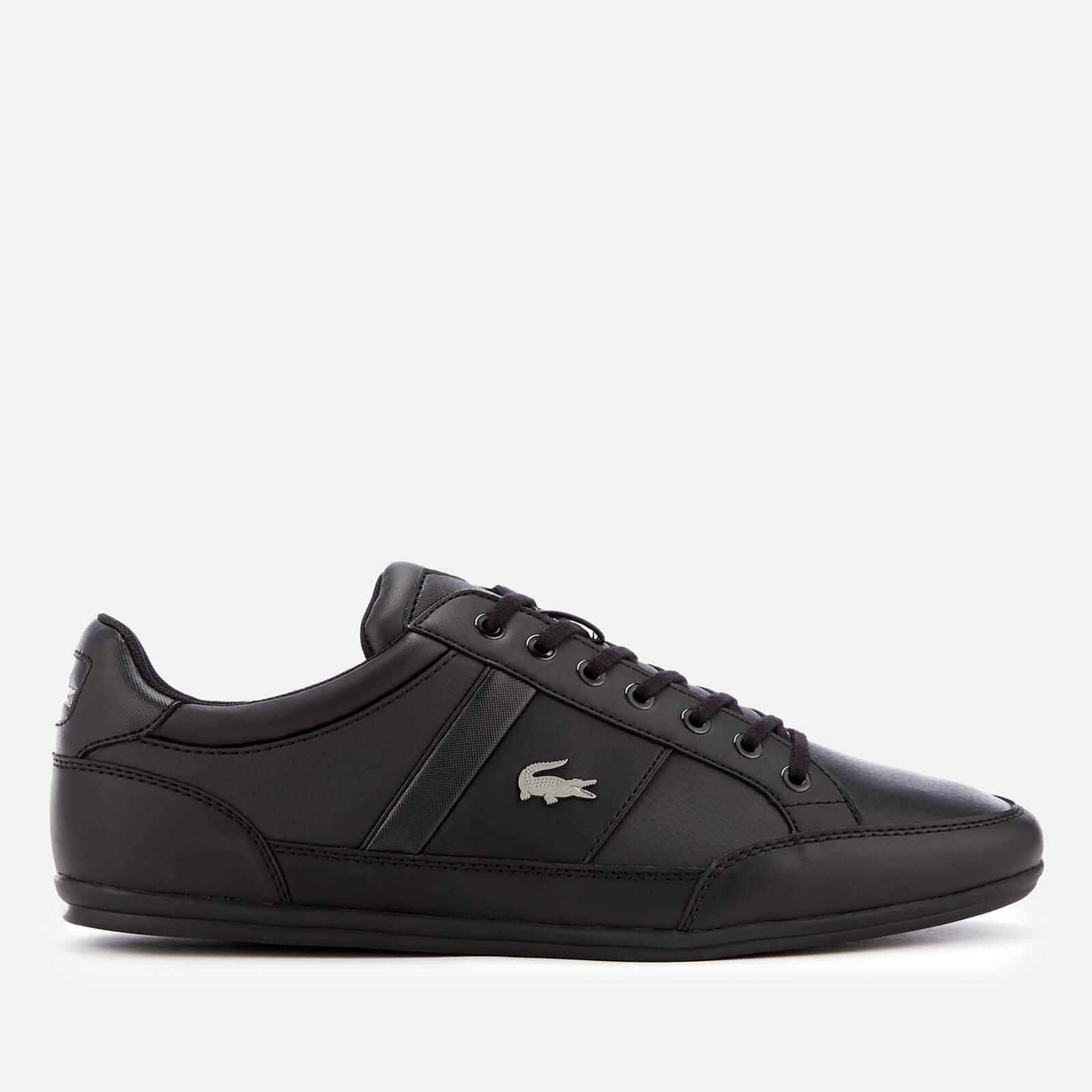 458350145ca7 Lacoste Chaymon Bl 1 Leather Low Profile Trainers in Black for Men ...