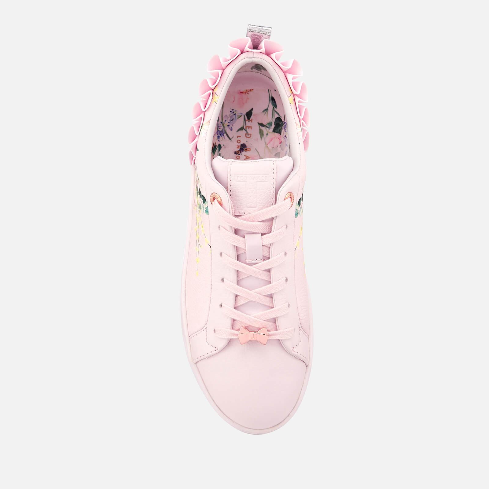 f391647b657f9 Ted Baker Pink Astrna 2 Leather Fill Low Top Trainers