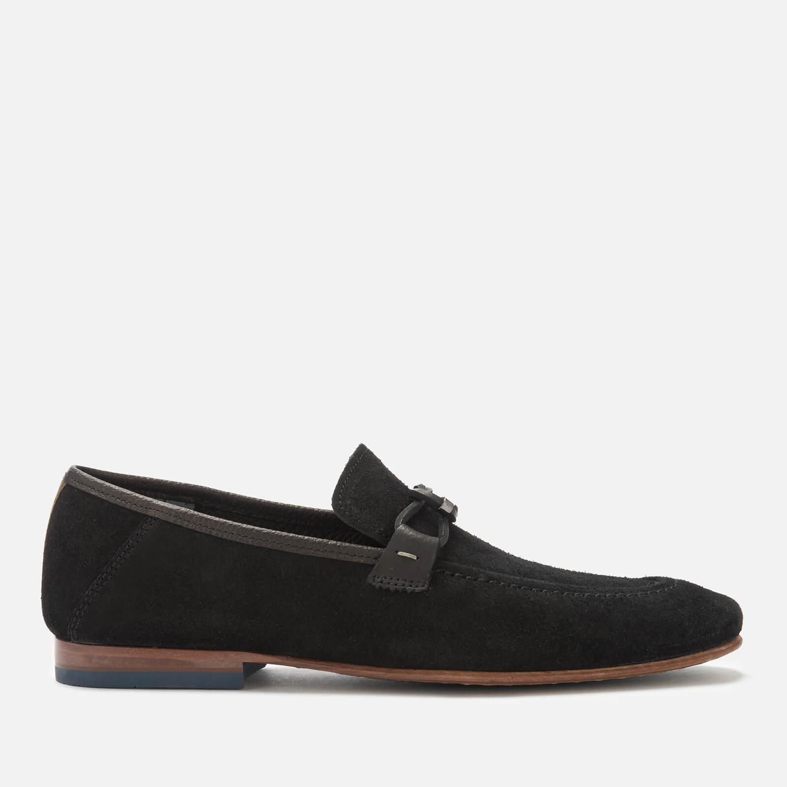 089580fc0351 Lyst - Ted Baker Siblac Suede Loafers in Black