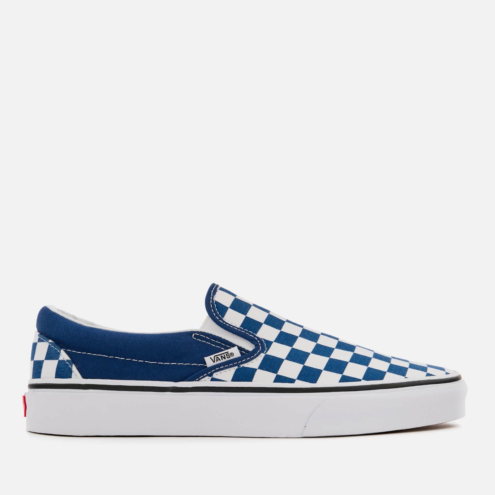 vans checkerboard slip on trainers
