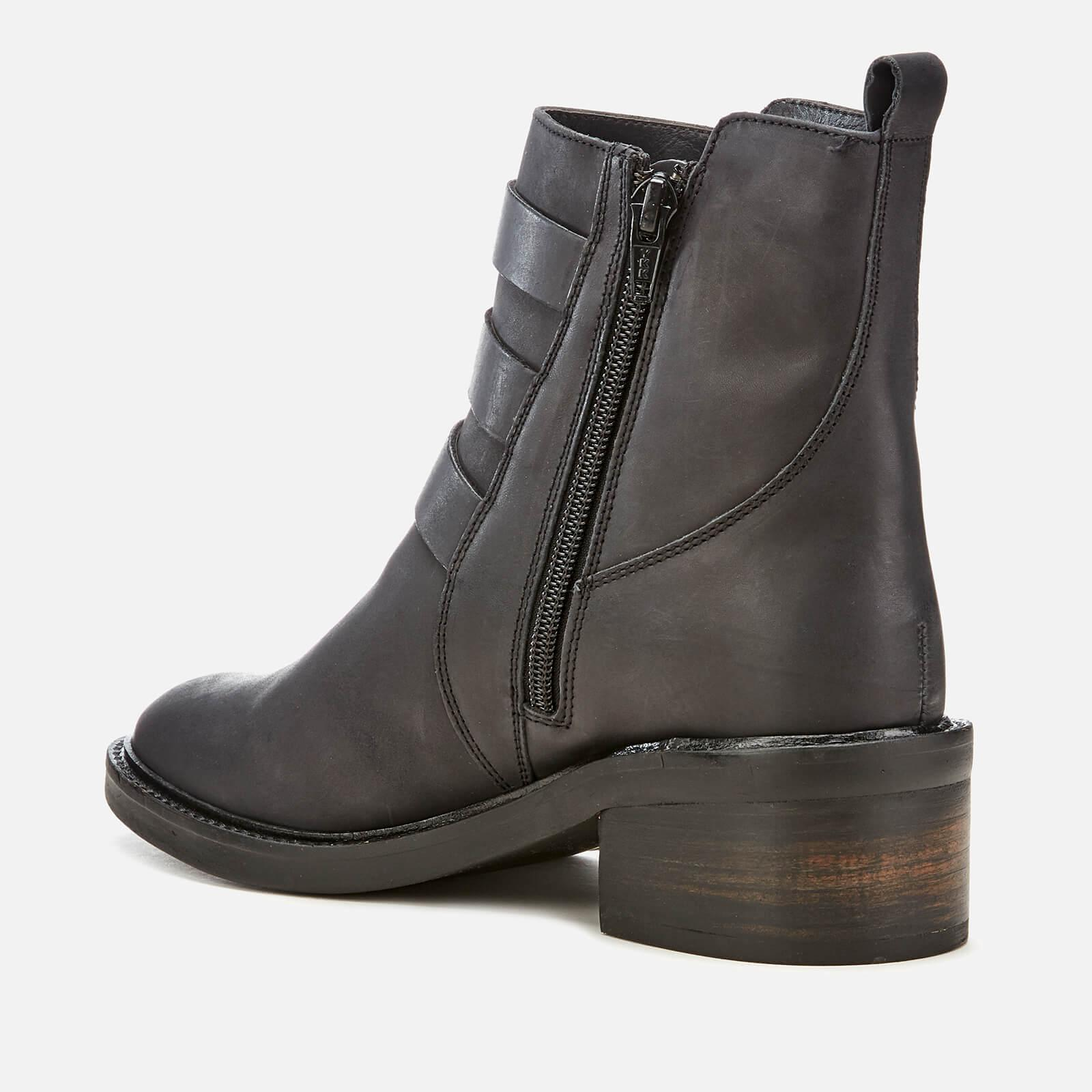 Superdry Leather Cheryl Military Boots