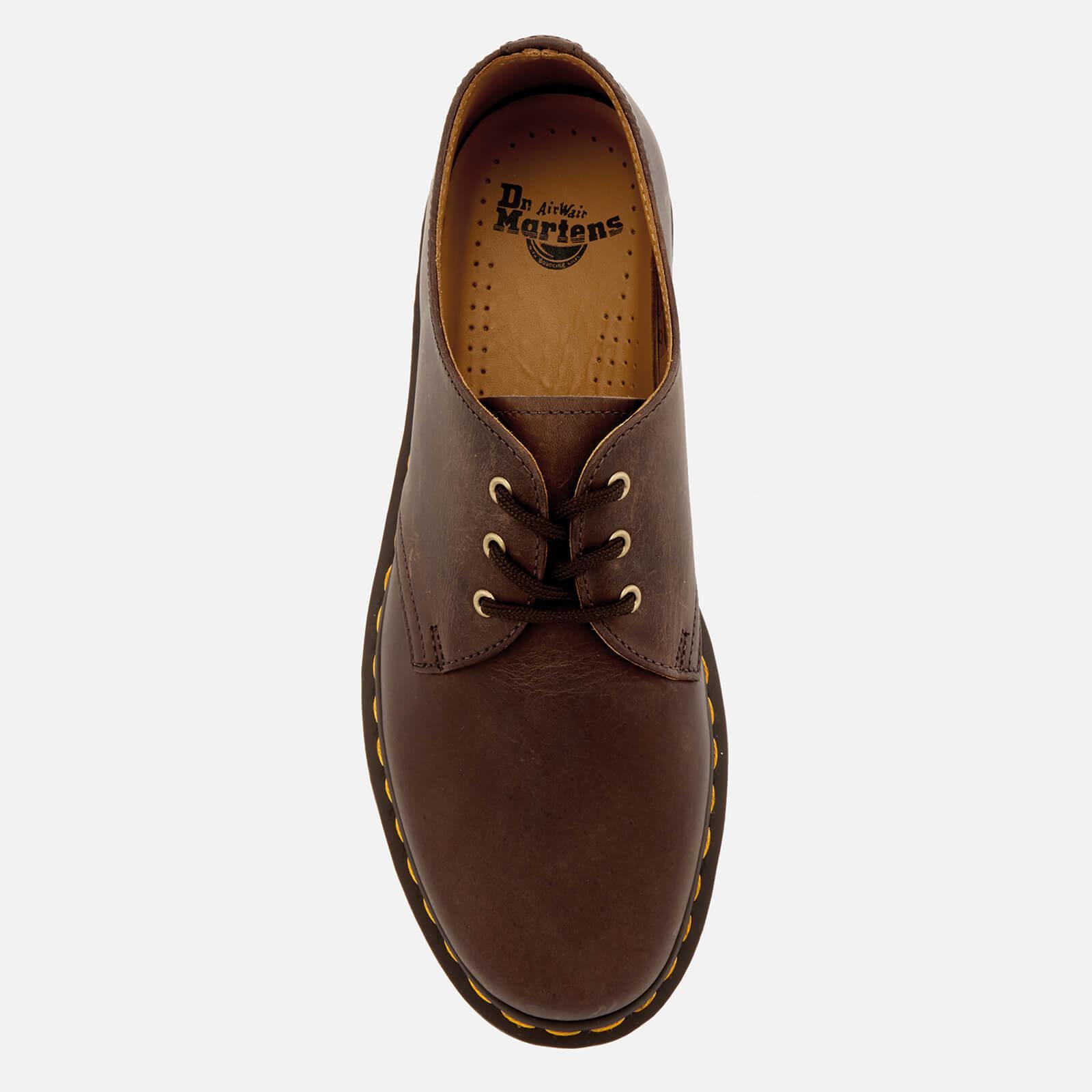81d0d719a43 Dr. Martens Brown 1461 Crazy Horse Leather 3-eye Shoes for men