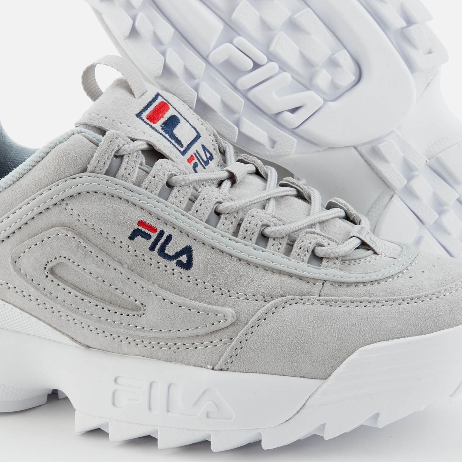 Fila Disruptor 2 Premium Suede Trainers in Grey (Grey) for Men