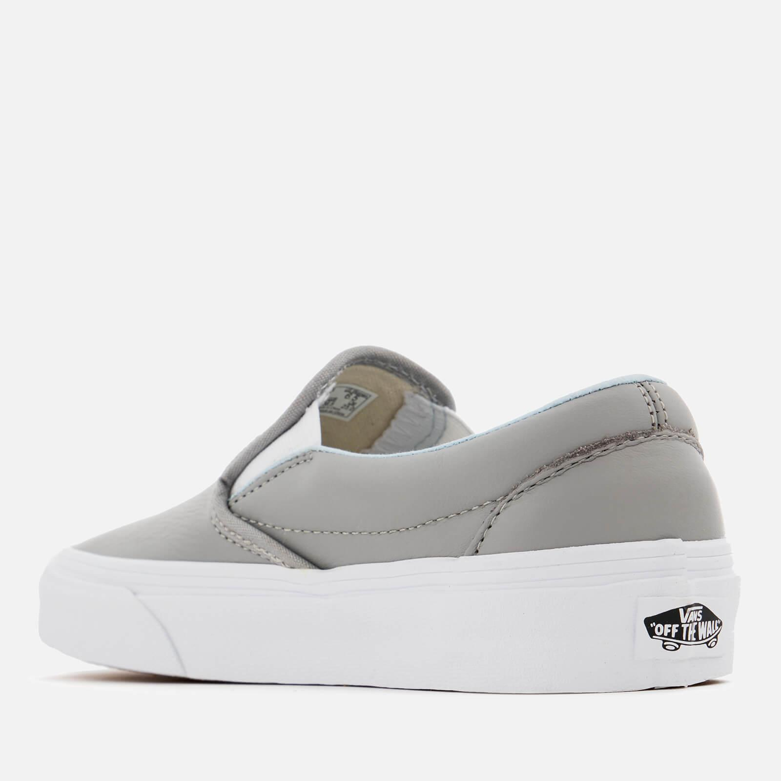 Vans Classic Leather Slip-on Trainers in Grey (Grey)
