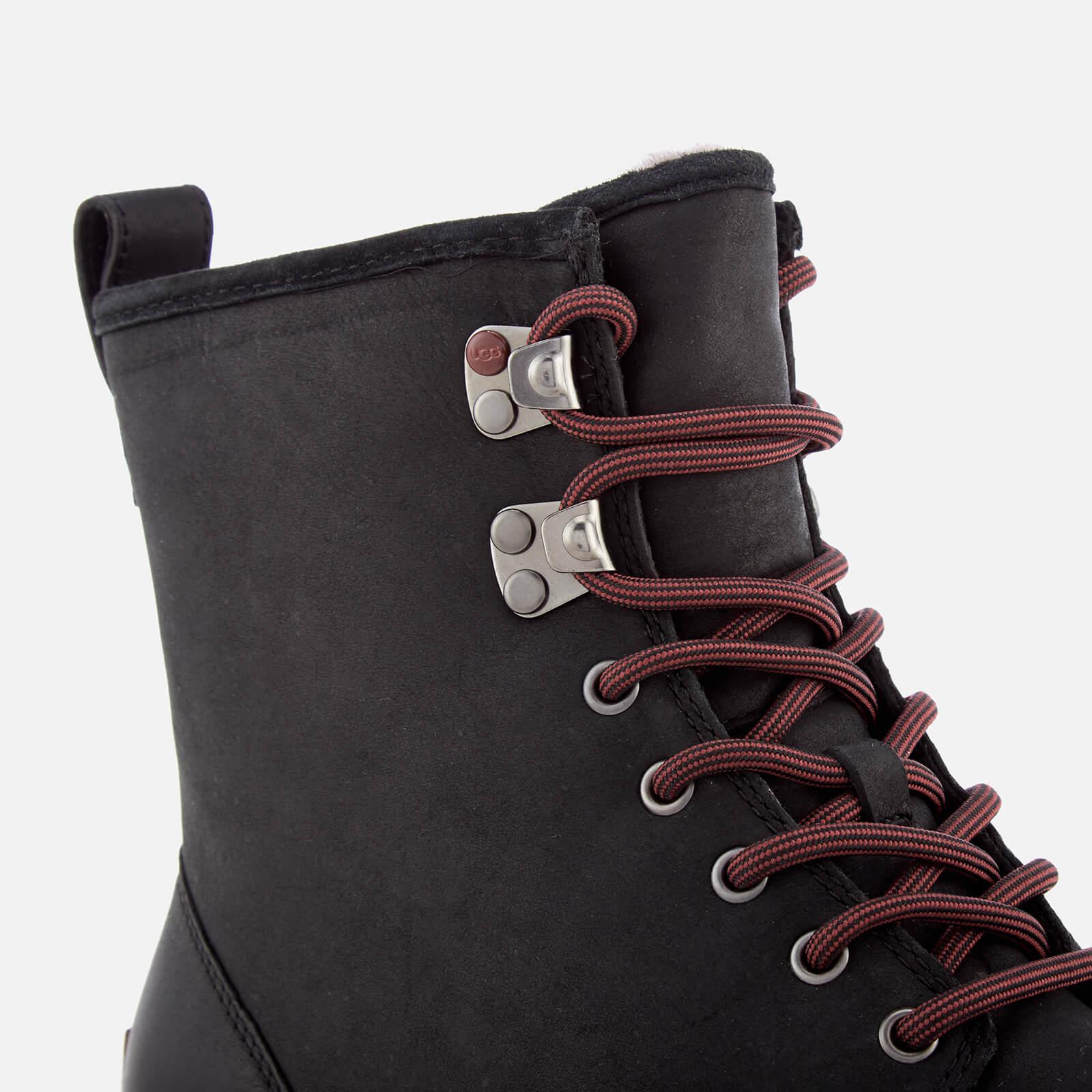 dfc1c61f54d Ugg Black Men's Hannen Tl Waterproof Leather Lace Up Boots for men