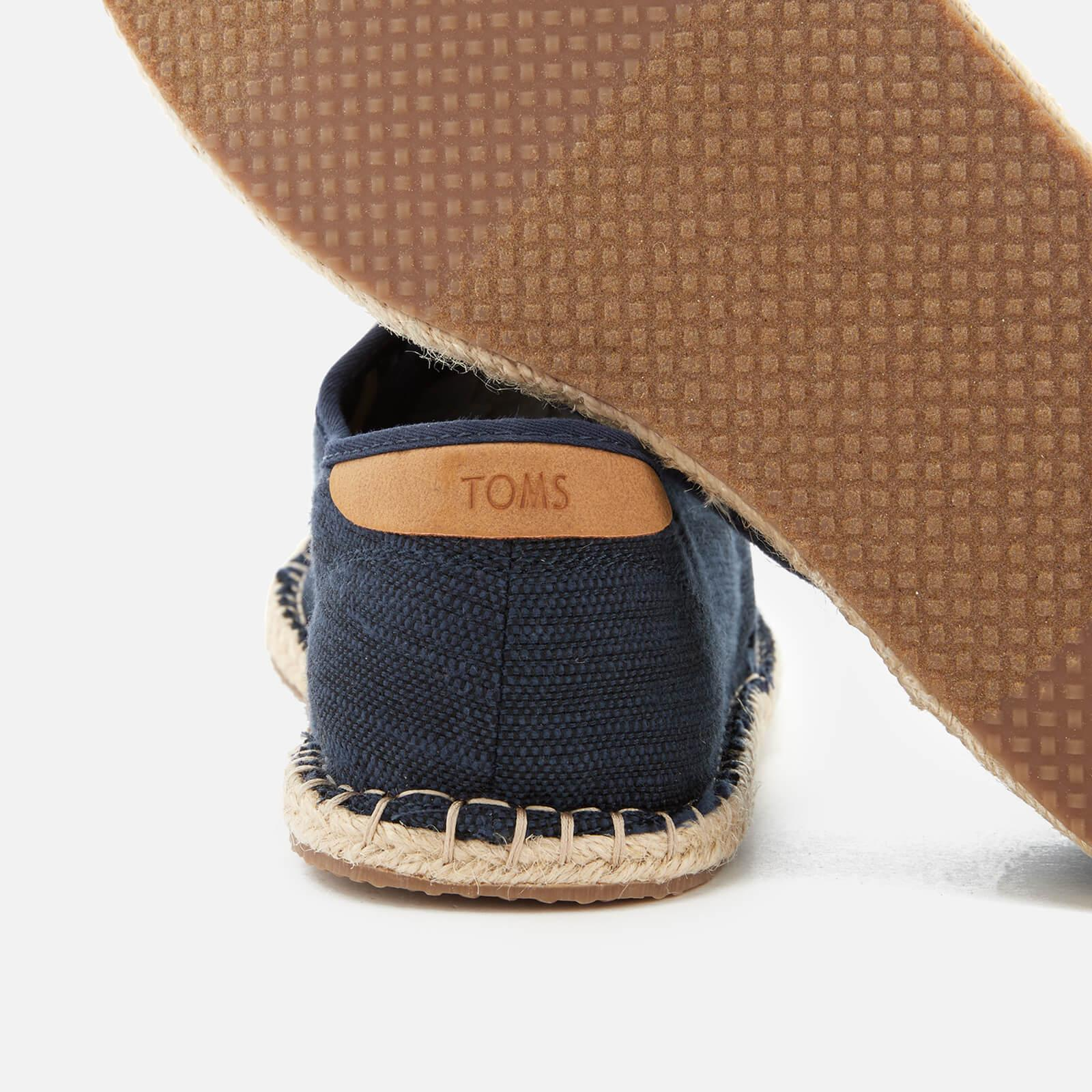 5afefa16bcd TOMS - Blue Diego Canvas Lace Up Espadrilles for Men - Lyst. View fullscreen