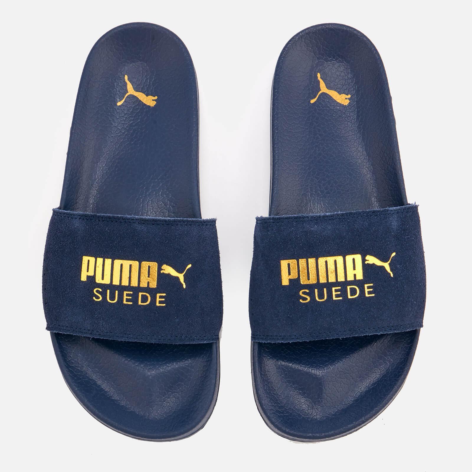 PUMA Leadcat Suede Slide Sandal in Black for Men - Lyst